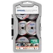 dremel sm710 12 piece multi surface multi purpose saw max cut off wheel set