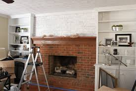 tutorial how to whitewash a brick fireplace