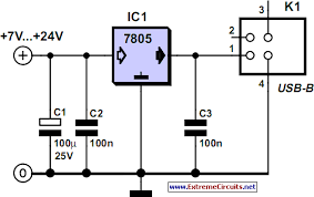 well documented simply solutions 7805 usb power circuit