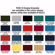 Por 15 Colors Chart The 20 Best Ideas For Engine Paint Colors Best Collections