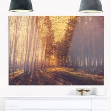 pine tree forest by road landscape photo glossy metal wall art on pine tree forest metal wall art with shop pine tree forest by road landscape photo glossy metal wall