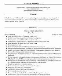 Police Lieutenant Promotion Resume Example Nyc Police
