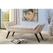 Baxton Studio Tamblin Midcentury Modern Retro Beige Linen Fabric - Modern retro bedroom