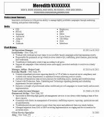 Ad Operations Manager Resume Sample Manager Resumes