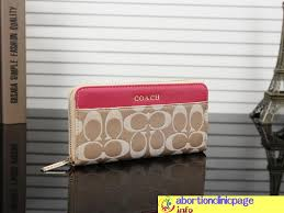 In Rose Red Coach Logo Monogram Wallet Casual
