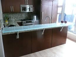 standoff angle bracket raised glass countertop