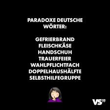 Visual Statements Paradoxe Deutsche Wörter Gefrierbrand