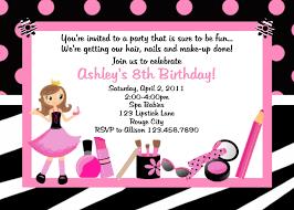 Girls Spa Party Invitations Pool Design Ideas