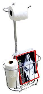 Chrome Toilet Paper Holder Magazine Rack Amazon DecoBros Toilet Tissue Paper Roll Holder Chrome 40