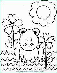 Calming Coloring Pages Elegant Spring Frog Coloring Page For Kids