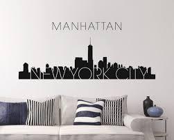 new york skyline wall sticker awesome new york skyline wall