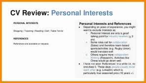 Interest And Hobbies For Resume Samples Costumepartyrun