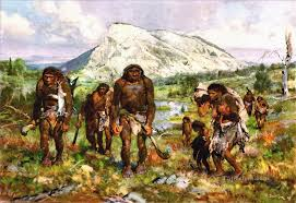 primitive hunters oil paintings