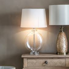 gallery direct metal and glass bowl lowther table lamp