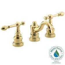 Brass Bathroom Faucet Kingston Brass Manhattan 8 In Widespread 2 Handle High Arc