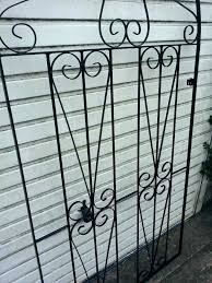 used wrought iron gates metal large garden gate ornate side designs arbor with gate iron garden
