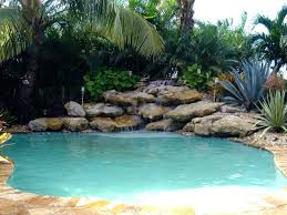 inground pools with waterfalls and slides. Inground Pool Waterfall With And Slide Swimming Cost Grotto Rock Pools Waterfalls Slides