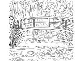 Small Picture Coloring Pages Mona Lisa Japanese Bridge Sleeping Gypsy and
