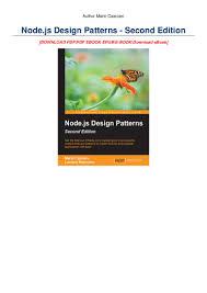 Node Js Design Patterns Second Edition Pdf Download Read_epub Node Js Design Patterns Second Edition Online Book