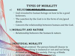 law and morality 7 types of morality