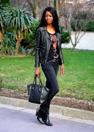 19fev13 tiger print t shirt studded boots cloutnes perfecto styyassitan look additional big