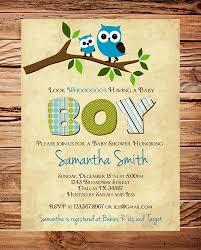 Baby Shower Invites Boy  Invitations For Baby Shower BoyOwl Baby Shower Invitations For Boy