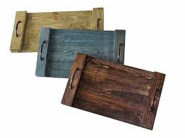 Wooden Trays To Decorate Gorgeous rustic wooden trays perfect for serving at home or at your 80