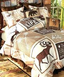moose bedding sets cabin comforter interesting rustic items lodge quilt regarding wilderness bed set canada collect
