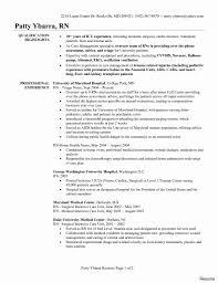 Telemetry Rn Resume Sample Cardiac Telemetry Nurse Resume Elegant Telemetry Nurse Resume 2