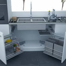 image of modern under kitchen sink storage style