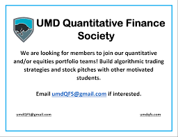 Society Umd Quantitative Finance Recruiting Portfolio Teams