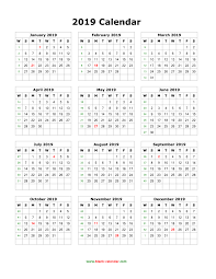 one page calender download blank calendar 2019 12 months on one page vertical