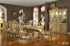 formal dining room table decorations. Dining Room : A Luxurious Formal Table Decorating Ideas In Wide With Beautiful Engraved White Wooden And Chairs, Buffet, Paintings, Decorations R