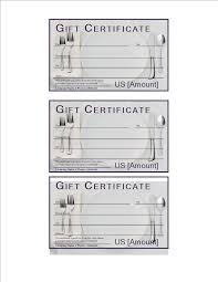 Free Printable Gift Certificate Template Word Restaurant Gift Certificate Template Food Free Printable