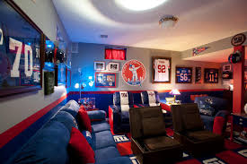 gaming man cave. Bleeding Your Team\u0027s Colors During The Big Game Gaming Man Cave