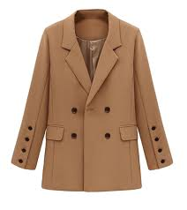 bu2h womens business double ted wool pea coat overcoat outwear b076mttf3n