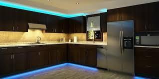 kitchen under lighting. Plain Kitchen Kitchen Cabinets With LED Strip Lighting Inside Kitchen Under