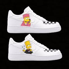 Air Force 1 Design Bart Simpson Custom Design