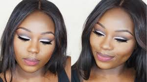 how to glitter cut crease makeup tutorial for hooded eyes i beginner friendly dark skin you