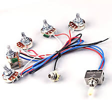 amazon com ascendas electric guitar wiring harness kit 2v2t pot electric guitar wiring harness on ebay ascendas electric guitar wiring harness kit 2v2t pot jack 3 way toggle switch for gibson les