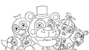 Super Design Ideas Fnaf Coloring Pages Free Nights At Freddys