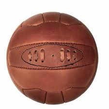 quality real leather vintage football soccer ball