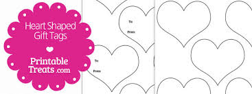 Gift Tag Template Free Heart Shaped Gift Tags Template Printable Treats Com