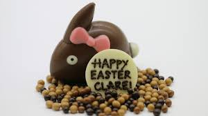 hand painted easter goos from oh boo chocolates