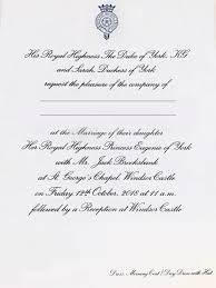 Kensington palace took the lead on unveiling the royal stationery, which follows family tradition and includes both american. Princess Eugenie Jack Brooksbank S Wedding Invites Compared To Prince Harry Meghan S