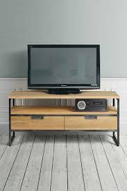 industrial media furniture. Qubix Industrial Media Unit - Solid Oak And Steel Furniture