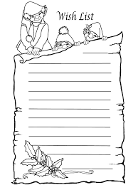 Coloring Christmas Wish List Colouring Page Christmas List Kids