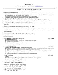 entry level resumes no experience best ideas of sample entry level accounting resume no experience