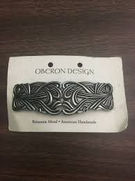 Oberon Design Hair Clips Art Nouveau Swirl Hair Clip Hand Crafted Metal Barrette Made In The Usa With Imported French Clips By Oberon Design