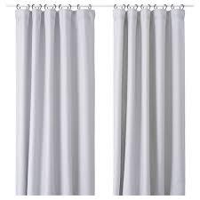 vilborg curtains 1 pair light grey length 250 cm width 145 cm